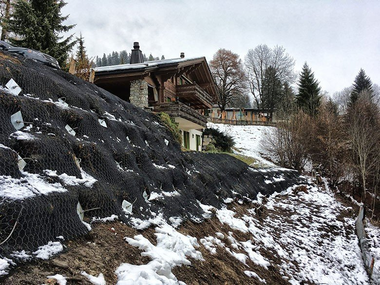 Slope Stabilisation - Switzerland using earth anchors of retaining structure