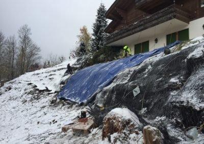 Slope Stabilisation - Switzerland using earth anchors of retaining structure
