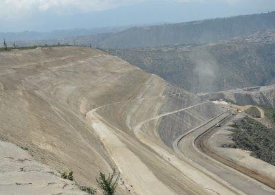 HCC, Quito, Ecuador - Aerial photo of road with slopes