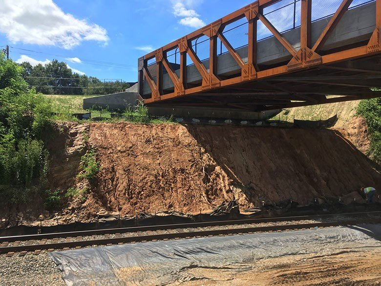 Slope Stabilization Winston Salem slope to be secured with Platipus Earth anchoring system