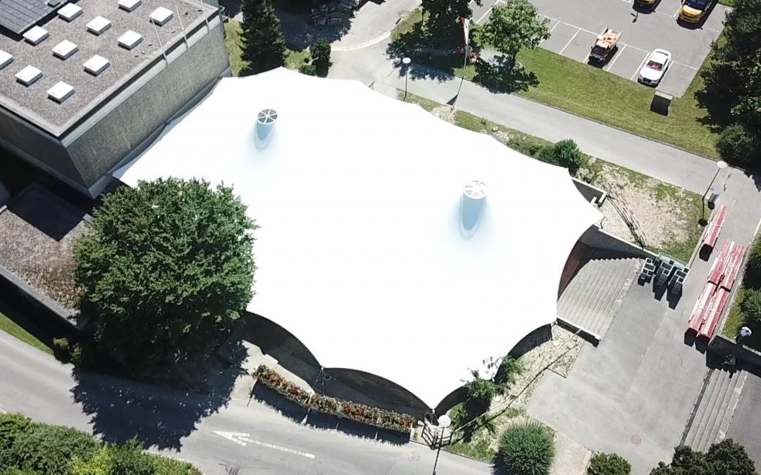 Tensile Shade Structure, Switzerland