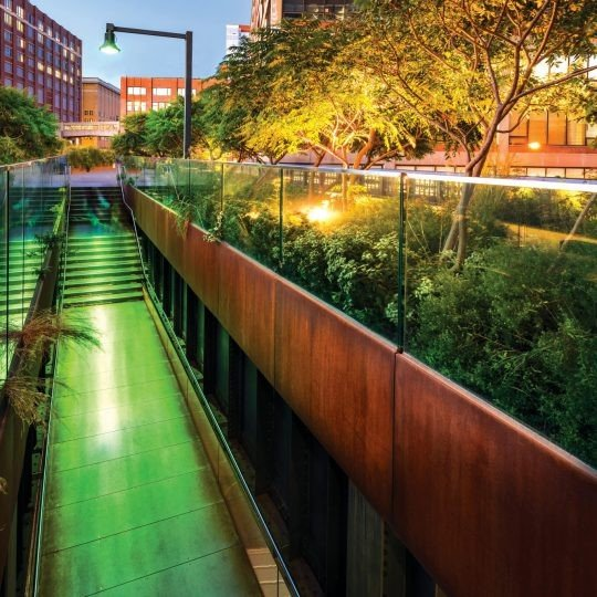 High Line Park - ground anchors installed by Platipus