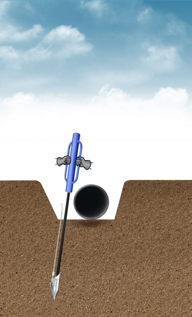 Installation drive Platipus anchor into ground