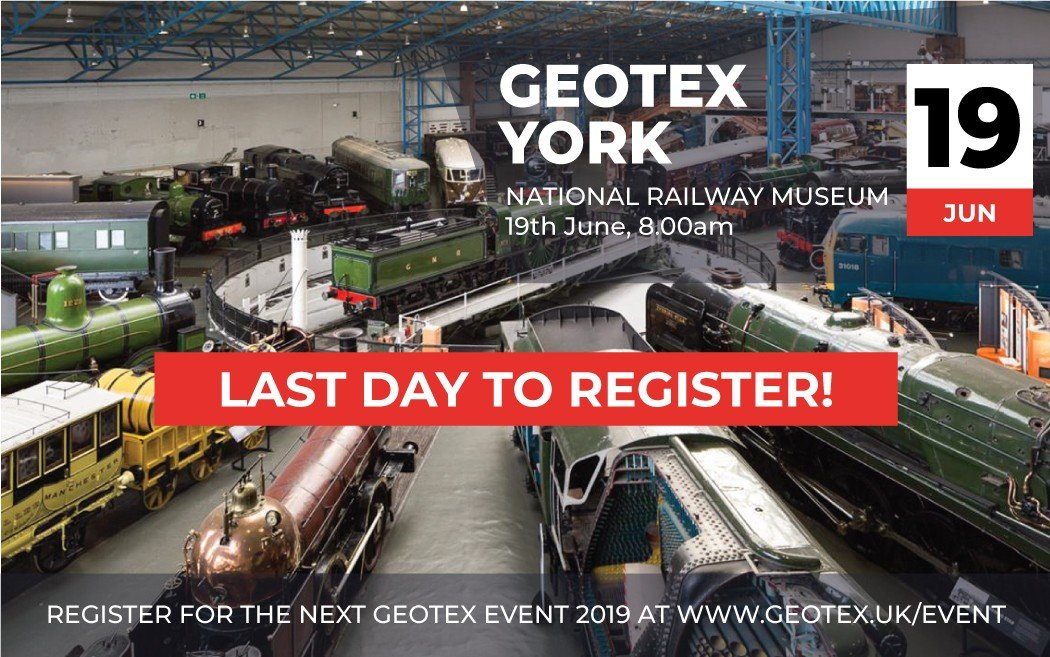 Last Day to Register for Geotex York