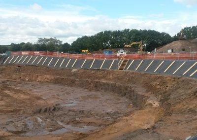 Temporary Slope Stabilisation - Wastewater Treatment Works Oldham, UK