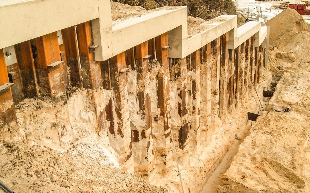 Permanent Sheet Piling – Honeycombe Beach, Bournemouth, UK