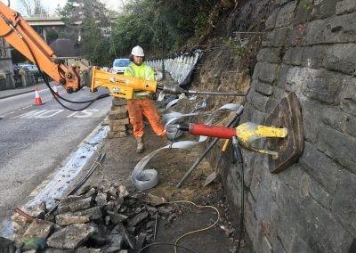Retaining Wall – Support & Drainage – Bournemouth, UK