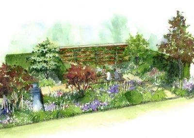 RHS Chatsworth House wedgewood garden drawing