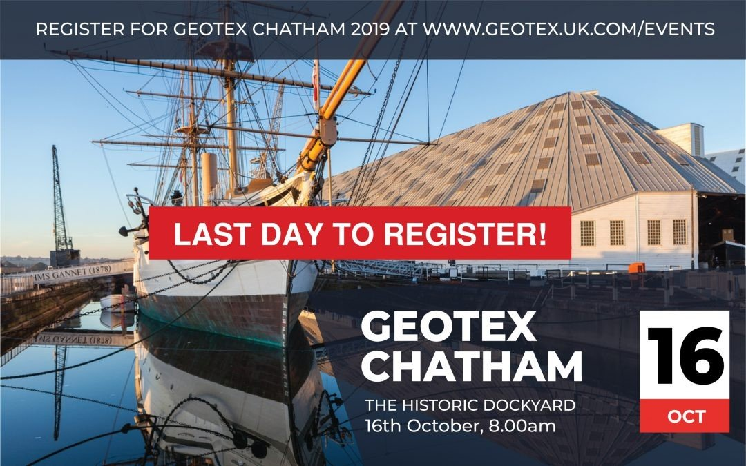 Last Day to register for Geotex Chatham