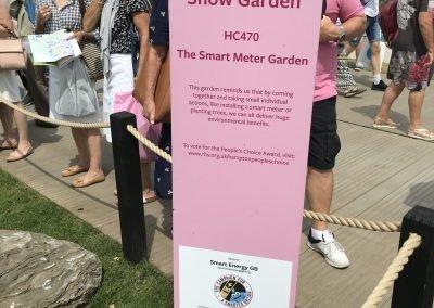 Smart meter garden tree planting