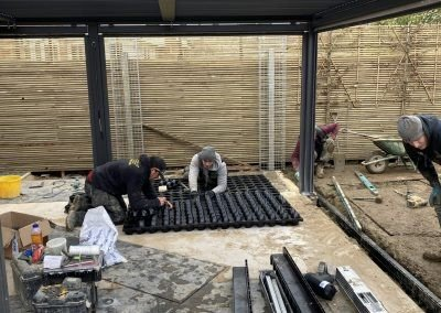 G-WALL - Private Domestic Garden, Keymer, West Sussex - Installing G-WALL