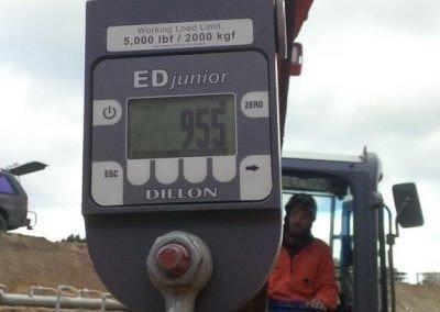 Mackay's Crossing to Pekapeka - V129 Pipe Load gauge reading