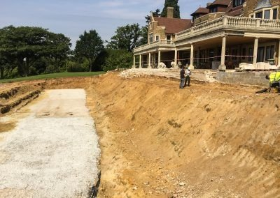 Rockwood Estate, Godalming, UK - slope to be stabilised with earth anchors