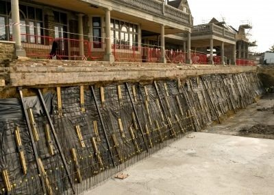 Rockwood Estate, Godalming, UK - Slope secured with Platipus earth anchors