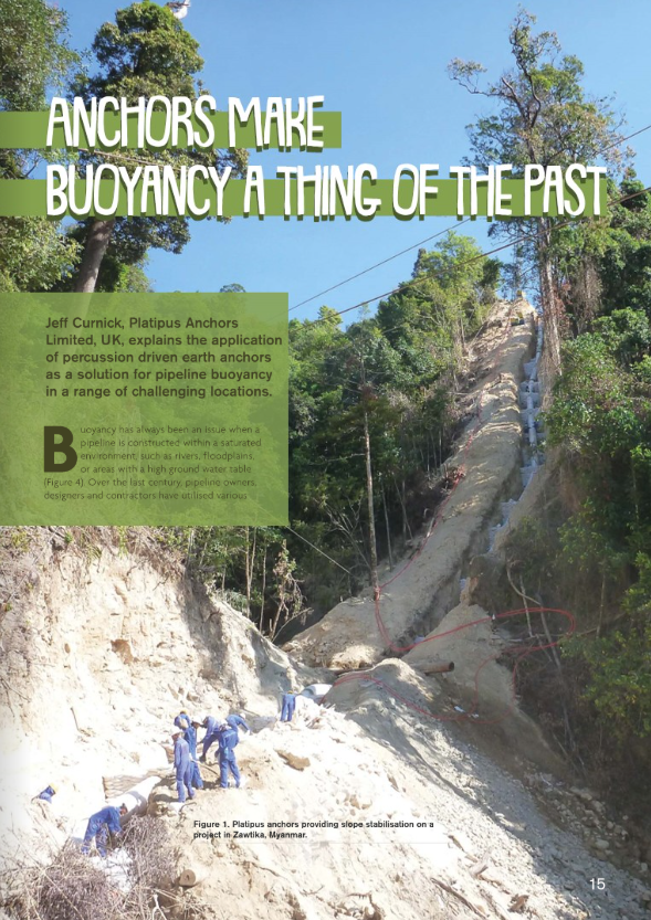 First page of Platipus article in the World Pipelines Magazine