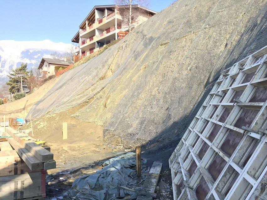 Savièse Slope Stabilisation - Switzerland - Slope Stabilisation using earth anchors