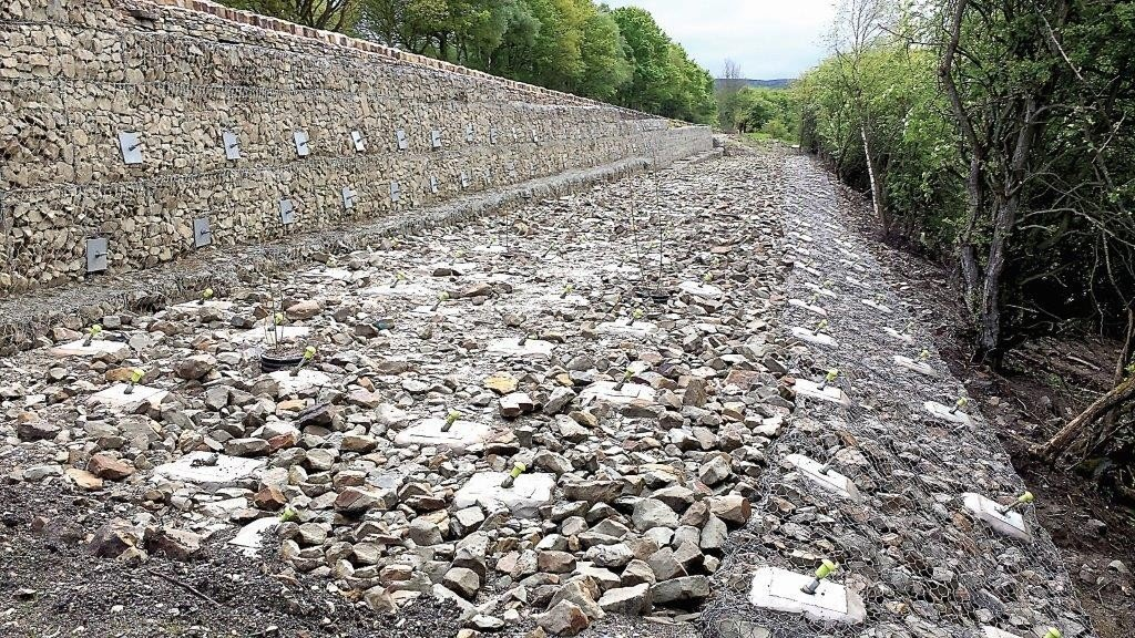 A57 Landslip Slope Reinforcement