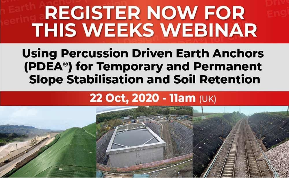 Webinar October 2020 – Temporary and Permanent Slope Stabilisation and Soil Retention