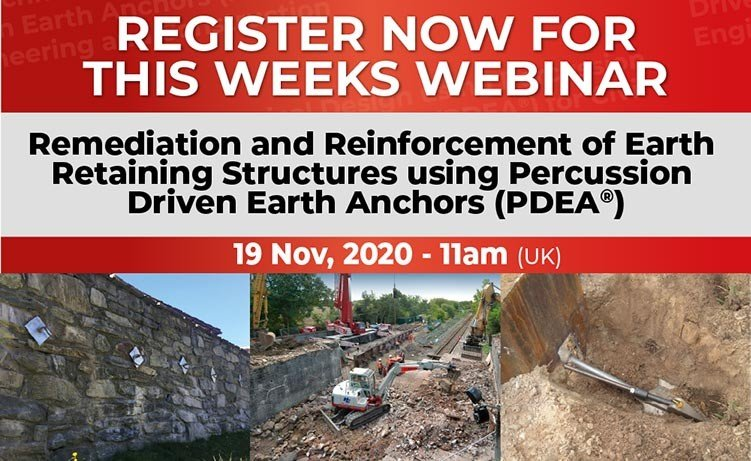 Webinar – Remediation and Reinforcement of Earth Retaining Structures using PDEA