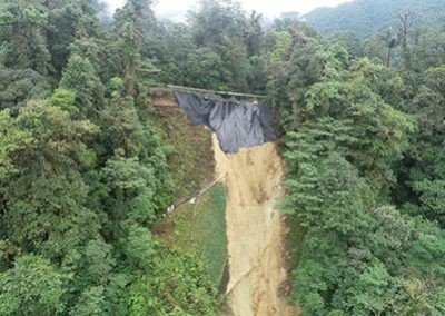 Landslide reported by military patrol in 2019