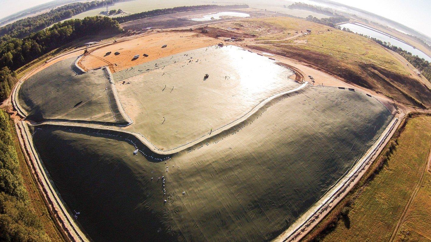 Platipus Landfill using earth anchors