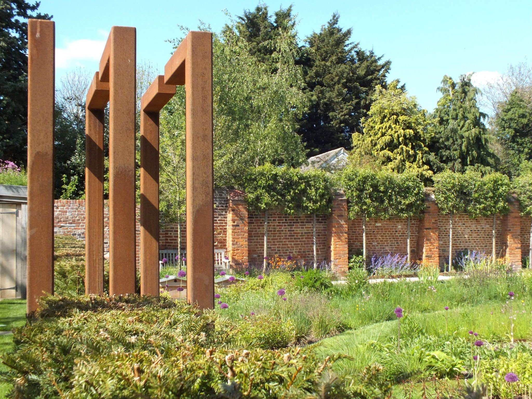 Row of posts - the walled garden