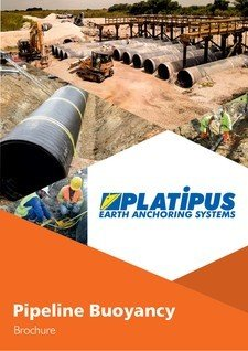 Platipus Anchors Brochure Cover for Pipeline Buoyancy