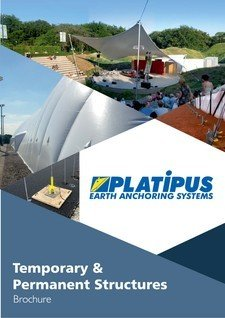 Platipus Anchors Brochure Cover for Temporary and Permanent Structures
