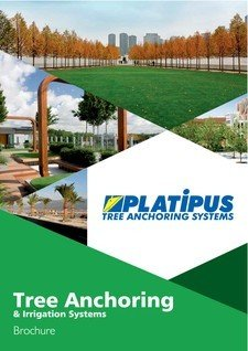 Platipus Anchors Brochure Cover for Tree Anchoring and Irrigation Systems