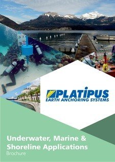 Platipus Anchors Brochure Cover for Underwater Marine and Shoreline Applications
