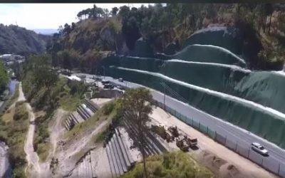 Solución para cotrol de erosión, se concluye la instalación de manto TM14 marca TenCate