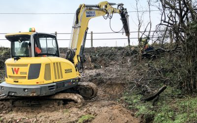 This highway embankment required remediation after an initial report indicated instability