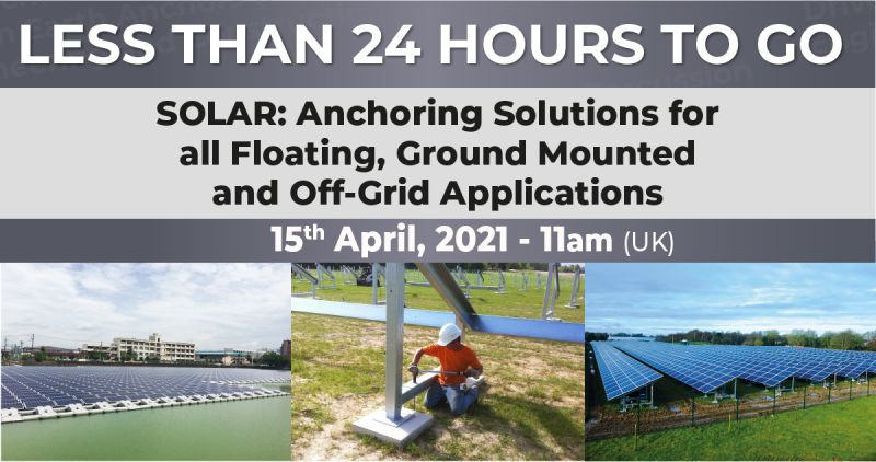 Less than 24 hours to go until this week's webinar 'SOLAR'
