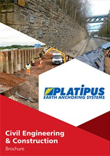 Platipus Anchors Brochure Cover for Civil Engineering and Construction Applications