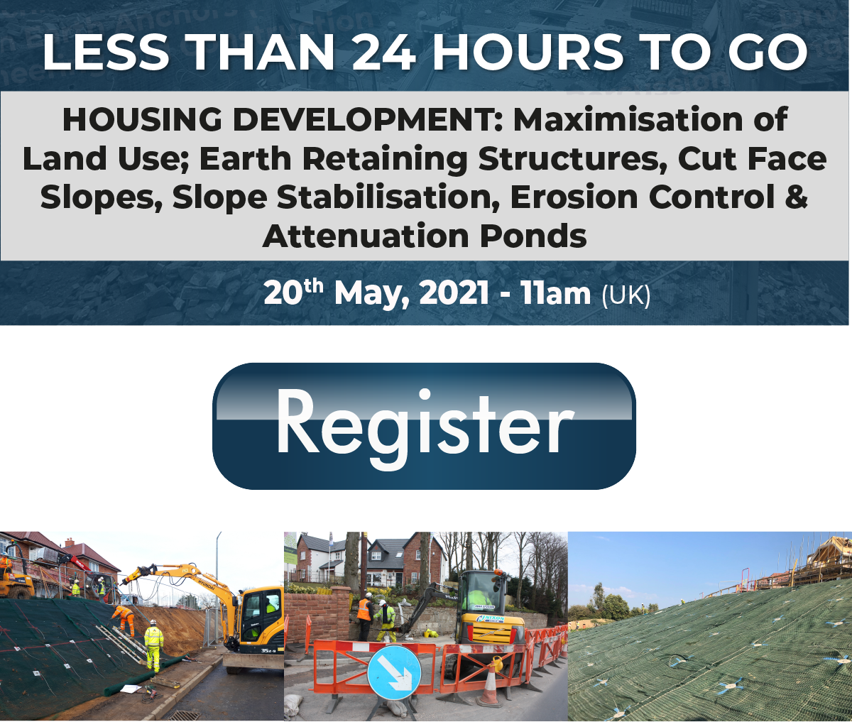 Less than 24 hours to go until this week's webinar 'Housing Development'