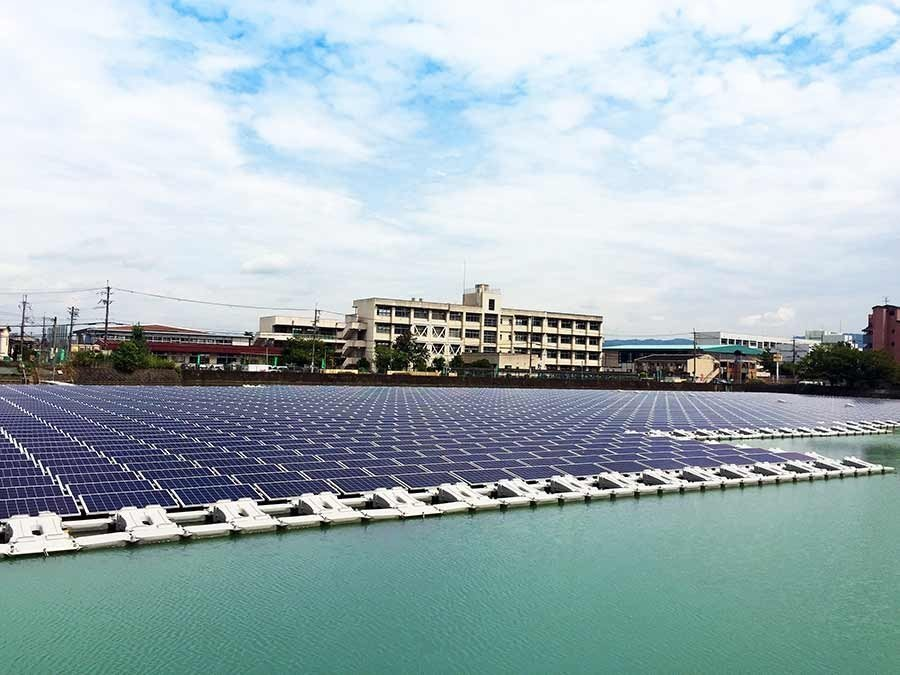 Ootsuda Ike Floating Solar Park - Kansai, Japan
