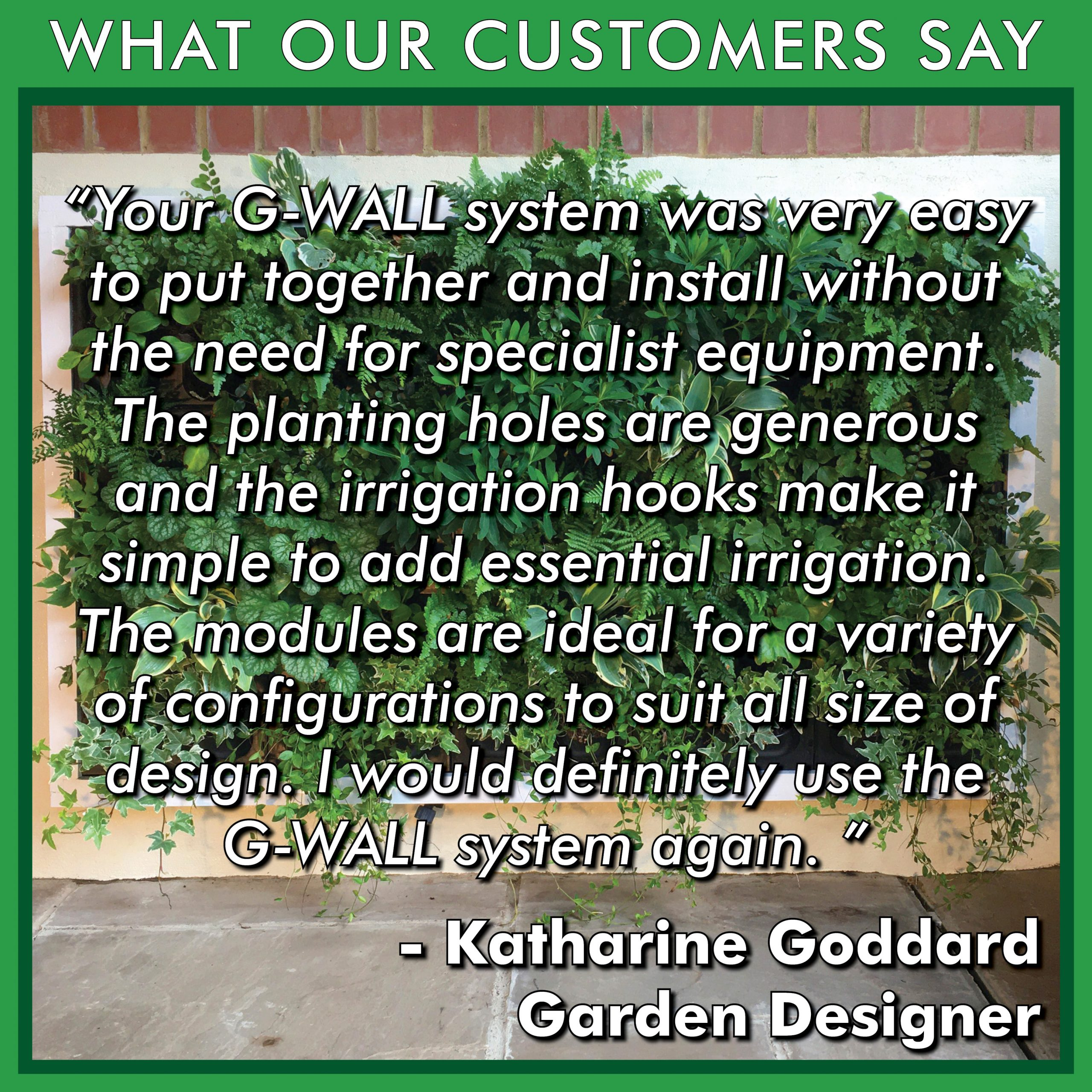 What our Customers Say - Review by Katharine Goddard