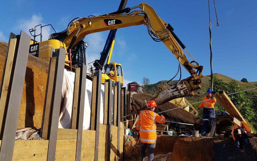Retaining Wall in Papamoa region, New Zealand